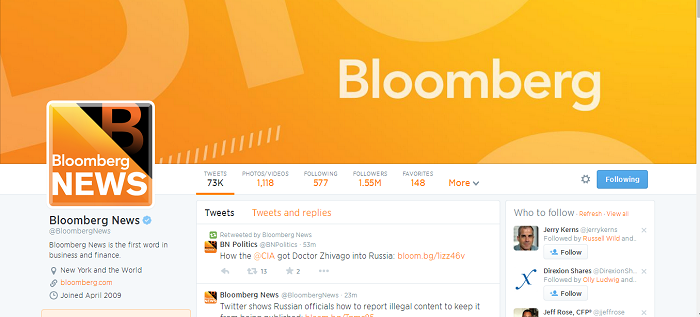 bloomberg news twitter profile