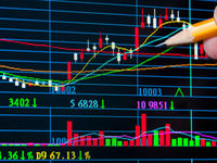 Photodune 1472006 analysis colorful stock chart on monitor finance concept xs