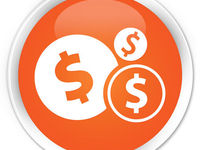 Photodune 9446756 finances dollar icon orange button xs